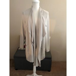 Logo Drape Cardigan Sweater with Pockets 2X